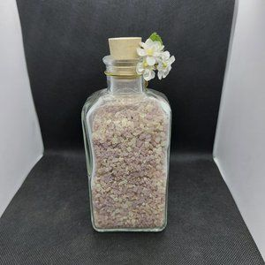 Vintage Apothecary Bottle w/ Flowers